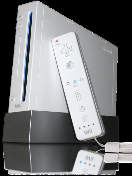 Die Wii mit der Wii Remote.