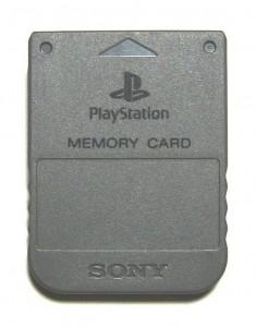 Eine Memory Card für die PlayStation bzw. PSone.