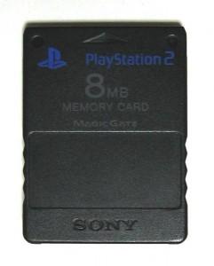 Die Memory Card für die PlayStation 2.