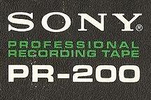 Das Sony Logo auf dem Cover einer reel-to-reel tape Box.