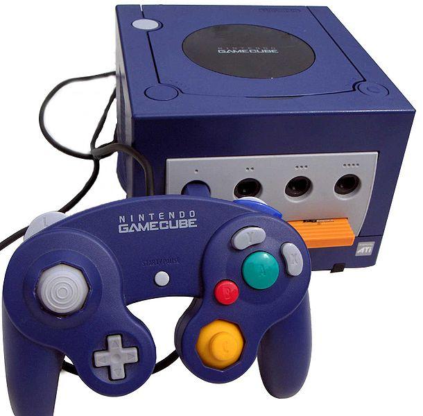 Der Nintendo Gamecube in violett.