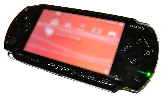 Die Sony PlayStation Portable.