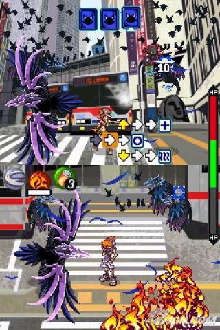 Der Spieler kämpft in beiden Bildschrimen gleichzeitig.