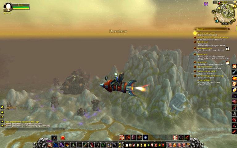 Raketenflug nach Desolace